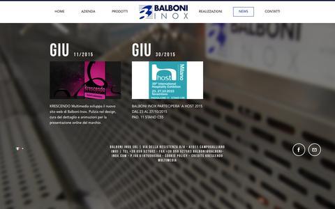 Screenshot of Press Page balboni-inox.com - BALBONI INOX - captured Feb. 7, 2016