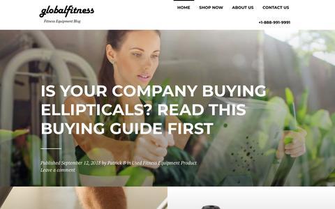 Screenshot of Blog globalfitness.com - Global Fitness Blog - Articles about the fitness equipment industry - captured Sept. 28, 2018
