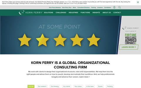 Screenshot of Home Page kornferry.com - Korn Ferry | Organizational Consulting - captured Feb. 10, 2020
