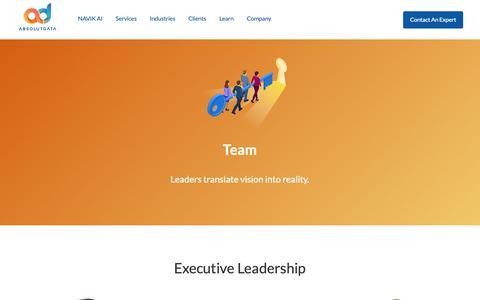 Screenshot of Team Page absolutdata.com - Team   Absolutdata - captured Nov. 3, 2018