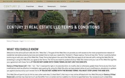 Screenshot of Terms Page century21.com - Terms and Conditions   CENTURY 21 - captured June 24, 2018