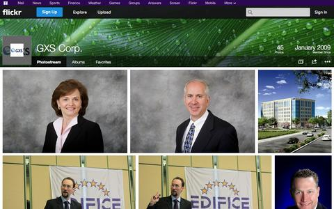 Screenshot of Flickr Page flickr.com - Flickr: GXS Corp.'s Photostream - captured Oct. 22, 2014