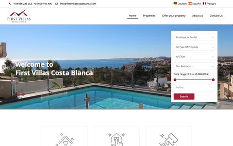 Screenshot of Home Page Terms Page firstvillascostablanca.com - FIRST VILLAS COSTA BLANCA - captured July 6, 2018