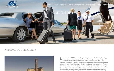 Screenshot of Team Page alacritylifestyles.com - Personal Concierge Service | Alacrity Lifestyles - captured Feb. 5, 2016