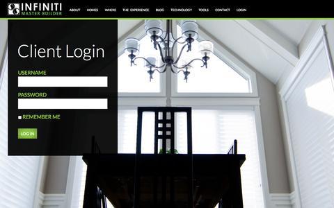 Screenshot of Login Page infinitimasterbuilder.com - Client Login « INFINITI MASTER BUILDER INFINITI MASTER BUILDER - captured Oct. 3, 2014