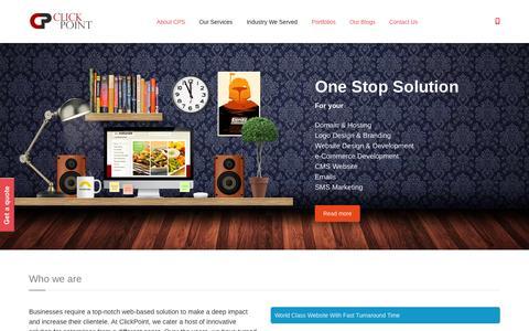 Screenshot of Testimonials Page clickpointsolution.com - Web Solution Company | ClickPoint Solution - captured July 21, 2015
