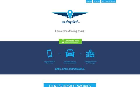 Screenshot of Home Page About Page Locations Page autopilot.io - Autopilot - captured Sept. 13, 2014