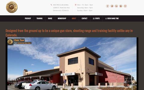 Screenshot of centennialgunclub.com - About - Centennial Gun ClubCentennial Gun Club - captured July 19, 2015