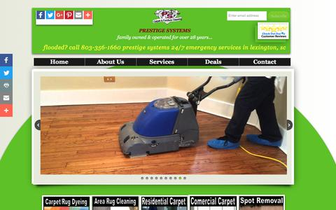 Screenshot of Home Page prestigesystems.net - Prestige Systems Carpet & Rug Cleaning in Lexington, South Carolina - captured Aug. 17, 2017