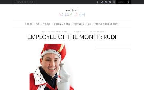 Screenshot of Blog methodhome.com - employee of the month: rudi  | method soap dish blog - captured March 23, 2018