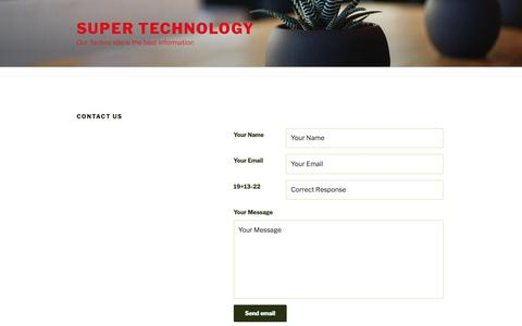 Screenshot of Contact Page superpl.us - Contact Us | Super Technology - captured Aug. 22, 2019