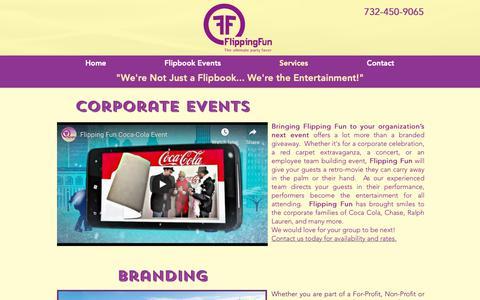 Screenshot of Services Page flippingfun.com - Flipping Fun Flipbooks | Services - captured Oct. 10, 2018