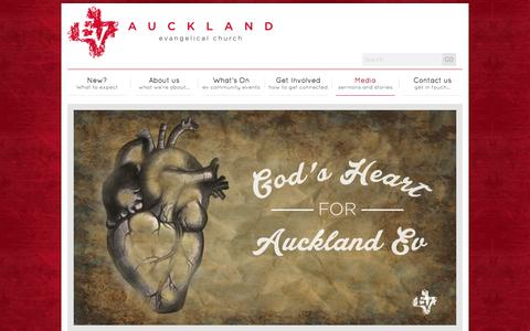 Screenshot of Press Page aucklandev.co.nz - Sermons | Auckland Evangelical Church - captured Nov. 2, 2014