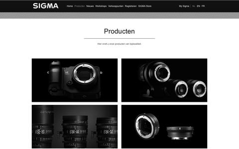 Screenshot of Products Page sigmabenelux.com - Producten | Sigma Benelux - captured June 13, 2017