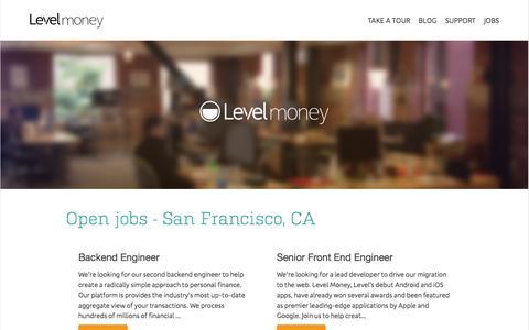 Jobs - Level Money