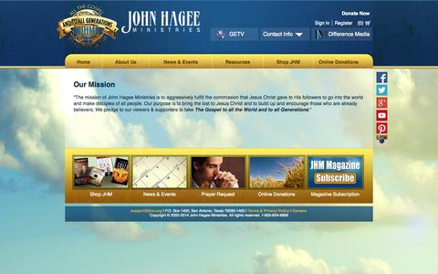 Screenshot of About Page jhm.org - About Us - captured Sept. 24, 2014