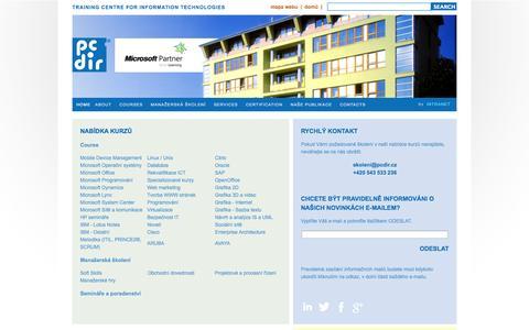 Screenshot of Home Page pcdir.cz - Počítačové kurzy | počítačová školení | PC-DIR Real, s. r. o. - captured Oct. 1, 2014