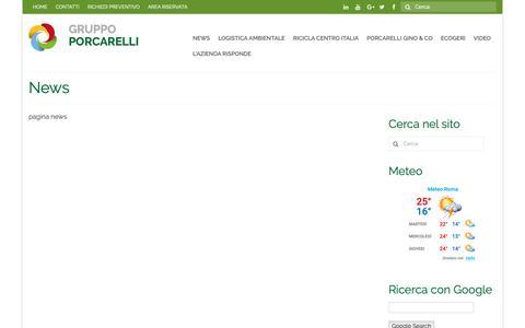 Screenshot of Press Page porcarelli.com - News - Gruppo Porcarelli - captured Sept. 30, 2018