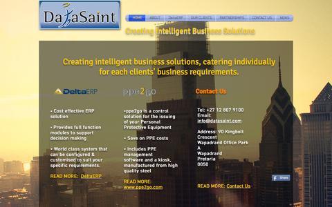 Screenshot of FAQ Page datasaint.com - DataSaint - Creating Intelligent Business Solutions - captured Sept. 25, 2015