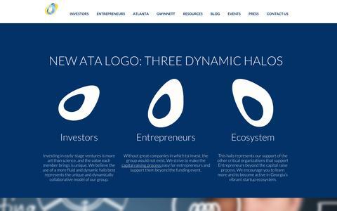 Screenshot of Home Page angelatlanta.com - Home Atlanta Technology Angels - captured Oct. 4, 2014