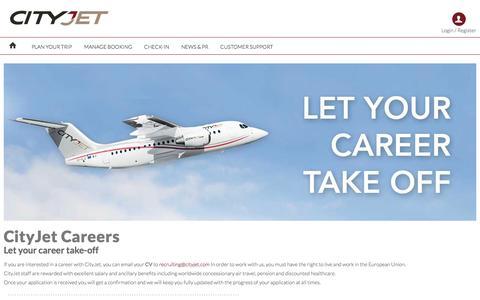 Screenshot of Jobs Page cityjet.com - Careers with CityJet - captured May 17, 2017