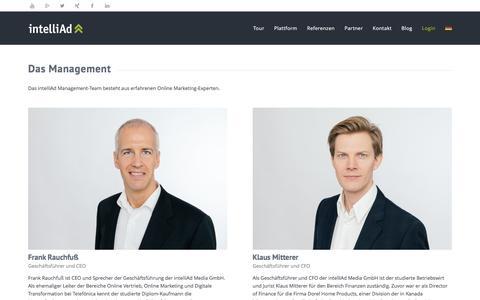 Screenshot of Team Page intelliad.de - intelliAd Management - captured Jan. 14, 2016