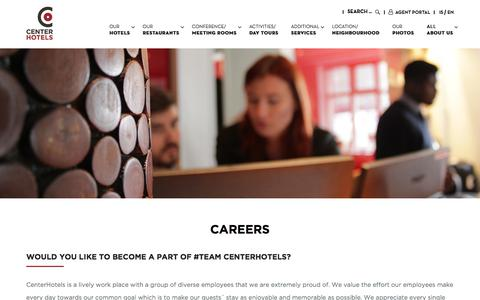 Screenshot of Jobs Page centerhotels.com - Hospitality career openings and jobs available - CenterHotels - captured July 16, 2018