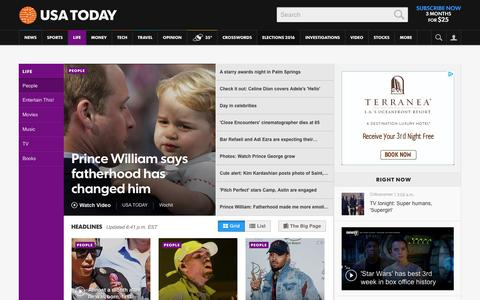 Screenshot of Team Page usatoday.com - Celebrity Photos, Videos and Interviews - USATODAY.com - captured Jan. 4, 2016