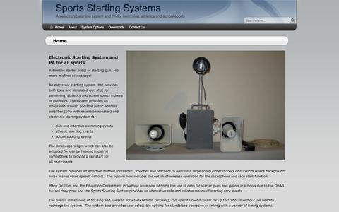 Screenshot of Home Page sportsstartingsystems.com.au - Home - Sports Starting Systems - captured Jan. 13, 2016