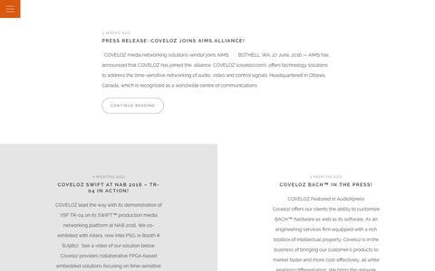 Screenshot of Blog coveloz.com - Blog - COVELOZ - captured July 17, 2016