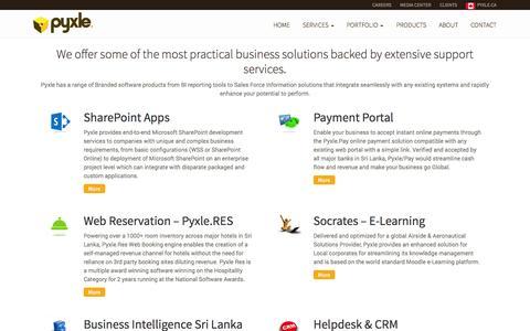 Screenshot of Products Page pyxle.net - E-Business Sri Lanka | Pyxle Sri Lanka - captured Oct. 3, 2014
