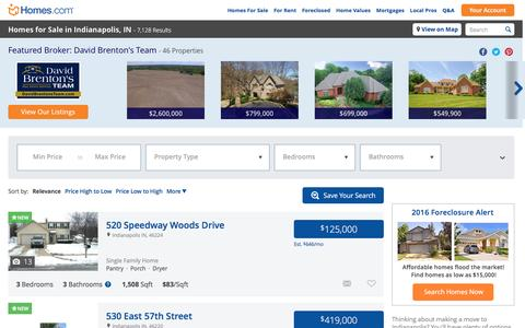 Indianapolis, IN Real Estate & Indianapolis Homes for Sale at Homes.com | 7069 Indianapolis Homes for Sale