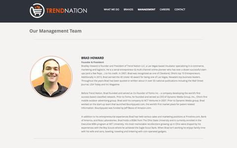 Screenshot of Team Page trendnation.com - Management | TrendNation LLC - Online Retail, E-Commerce Investment Company - captured Sept. 23, 2014