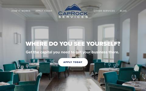 Screenshot of Home Page caprockservices.com - CapRock Services | Advance Business Capital in Dallas - captured Jan. 25, 2016