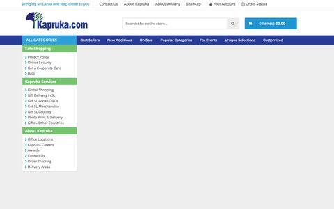Screenshot of About Page kapruka.com - Kapruka - Corporate Information - E Commerce Orginizations in Sri Lanka - captured July 10, 2017