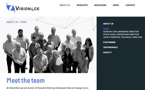 Screenshot of Team Page vision4ce.com - Team - Vision4ce - captured Oct. 21, 2017