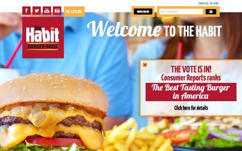 Screenshot of Home Page habitburger.com - Habit Burger - captured Sept. 19, 2014