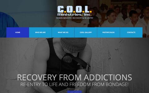 Screenshot of Home Page coolministries.net - COOL Ministries, Inc. | Prison Ministry, Recovery & Re-entry - captured Jan. 23, 2016