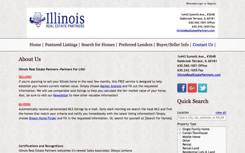 Screenshot of About Page illinoisrealestatepartners.com - About Us   Illinois Real Estate Partners - captured Jan. 8, 2016
