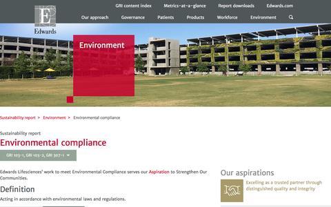 Environmental compliance – Edwards – Sustainability
