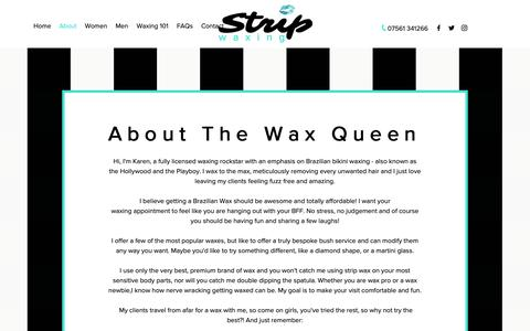 Screenshot of About Page thestripwaxing.com - 'Strip' Waxin | Lincoln | About - captured Oct. 21, 2018