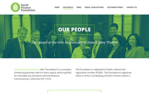 Screenshot of Team Page sff.ie - Our People – Social Finance Foundation - captured Nov. 22, 2018