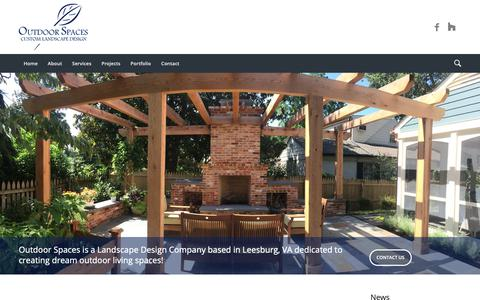 Screenshot of Home Page outdoorspacesdesign.com - Outdoor Spaces - Custom Landscape Design - captured Oct. 18, 2018