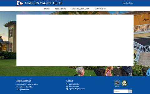 Screenshot of Home Page naplesyc.org - Home - Naples Yacht Club - captured Dec. 2, 2016