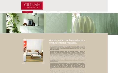 Screenshot of Home Page grenah.com.br - Grenah Home Decor - captured Oct. 3, 2014