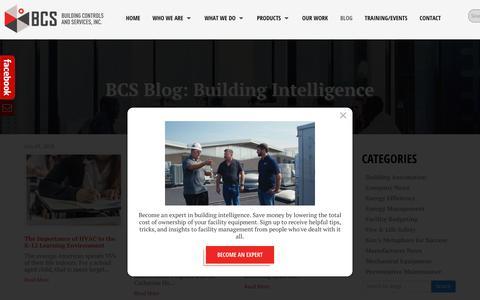 Screenshot of Blog bldgcontrols.com - BCS Blog - Keeping your Building Intelligent - captured Oct. 7, 2018