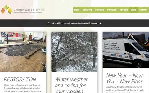 Screenshot of Blog chesterwoodflooring.co.uk - Blog - Chester Wood Flooring   Chester Wood Flooring - captured Sept. 27, 2018