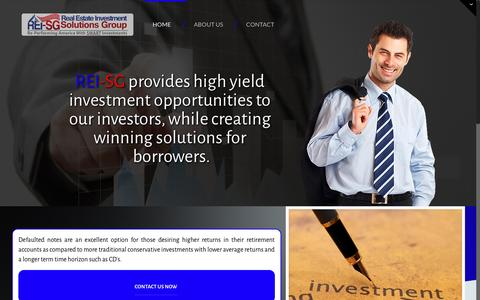 Screenshot of Home Page rei-sg.com - REI-SG – Real Estate Investment  Solutions Group - captured Dec. 15, 2016