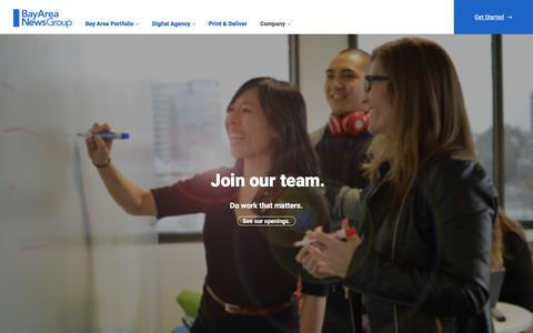 Screenshot of Jobs Page bayareanewsgroup.com - Careers  | Bay Area News Group - captured Feb. 7, 2016