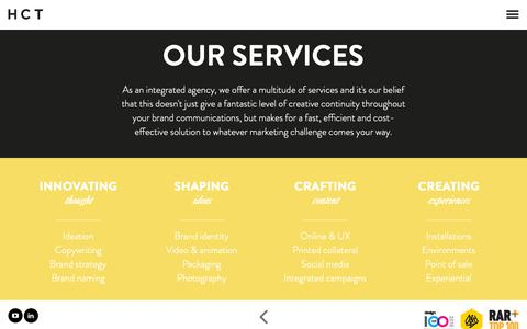 Screenshot of Services Page hctcreative.com - Services | First Class Creative Solutions - captured Nov. 5, 2018